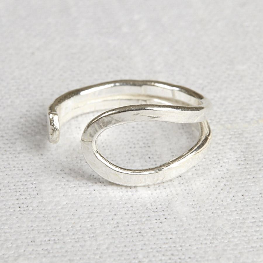 la jewellery recycled silver wave ring la jewellery