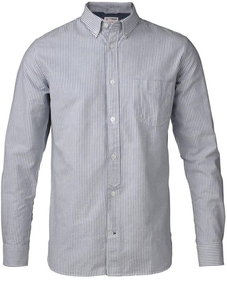 Knowledge Cotton Organic Button Down Striped Oxford Shirt