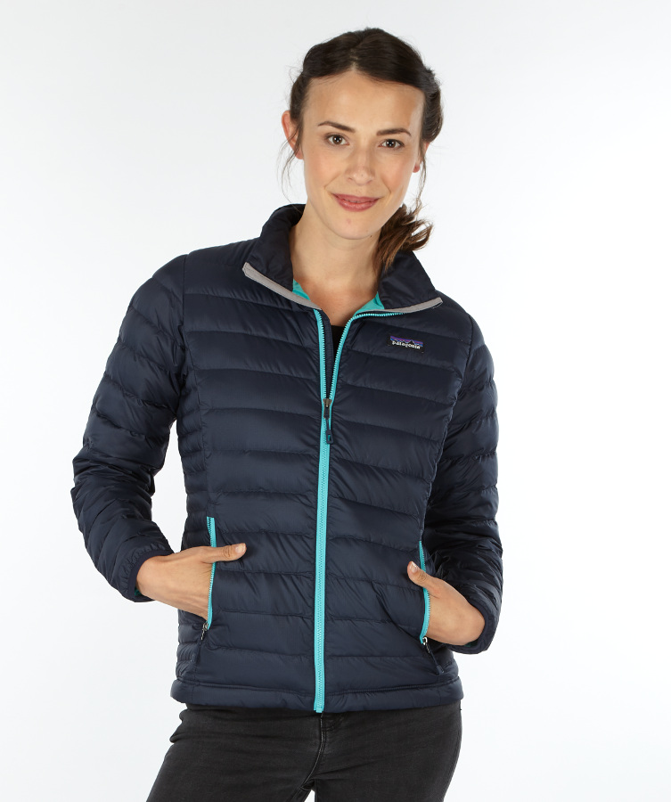 Patagonia Womens Down Sweater Jacket - Navy Blue - Patagonia