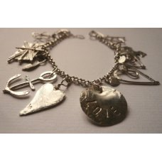 La Jewellery Recycled Silver LA Charm Bracelet