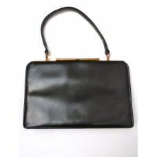 Jolly Jilly Black Leather Vintage Bag