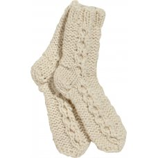 Chamonix Knitted Socks - Cream - One Size