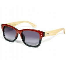 Retro Red Eco-Friendly Wooden Sunglasses