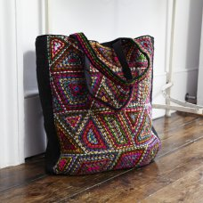 Colouful Embroidered Felt Bag