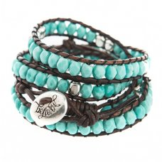 Believer Jewellery Turquoise & Sterling Silver Wrap