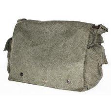Hemp Postman Bag - Khaki