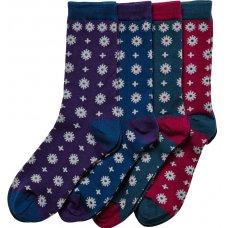 Braintree Bamboo Snowie Tiled Socks