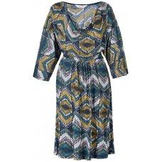 Orissa Cowl Neck Dress - Teal