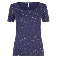 People Tree Stars Short Sleeve Pyjama T-shirt
