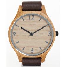 Single Strap Brown Bamboo Watch