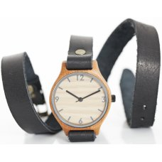 Wrap Around Black Bamboo Watch