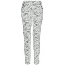 Nancy Dee Dylan Floral Motif Cigarette Trousers