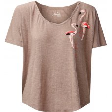 Komodo Embroidered Lutus Flamingo Top