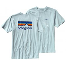 Patagonia Line Logo T-Shirt - Blue