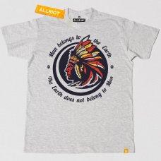 All Riot 'Man Belongs to the Earth' Native America T-Shirt