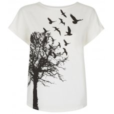 People Tree Printed T-shirt - Eco White
