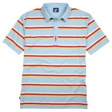 Striped Arnie Polo Shirt - Sky