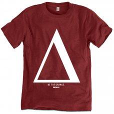 Rapanui Organic Cotton Men's Be The Change T-shirt - Red Wine