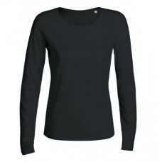 Womens Organic Cotton Scoop Neck Long Sleeve T-shirt