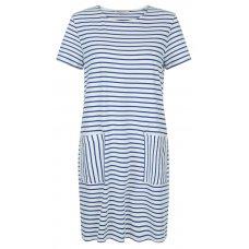 People Tree Aida Blue Stripe Dress