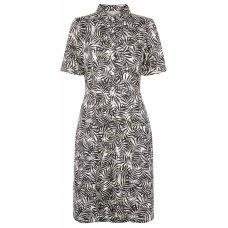 People Tree Alexis Palm Print Shirt Dress