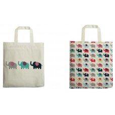 Printed Elephant Shoppers - set of 2