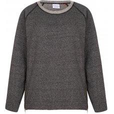 Asquith Organic Cotton Zip It Sweatshirt - Pale Grey Fleece