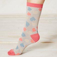 Braintree Happy Heart Bamboo Socks