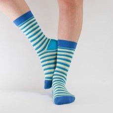 Doris & Dude Womens Blue Stripe Bamboo Socks