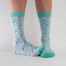 Doris & Dude Womens Pig Bamboo Socks - Blue