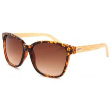 Graduated Oversized Bamboo Sunglasses - Tortoise Shell