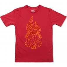 Silverstick Mens Live Wild Organic Cotton T-Shirt - Grenadine