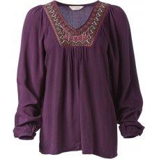 Nomads Fair Trade Embroidered V Neck top