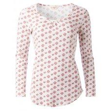 Nomads Organic Long Sleeve PJ Top - Floral Print