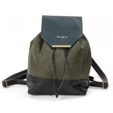 Skunkfunk Raim Vegan Leather Backpack - Green