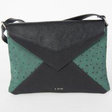 Skunkfunk Cugula Vegan Leather Envelope Bag - Dark Green