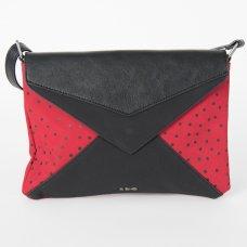 Skunkfunk Cugula Vegan Leather Envelope Bag - Dark Red