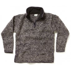 Men's Donegal Half Zip Jumper - Charcoal