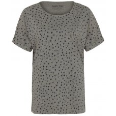 People Tree Stars Print Short Sleeve Pyjama Top - Grey