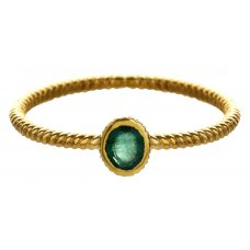 Marzipants 18ct Gold Ring - Emerald