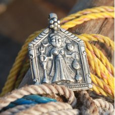 Marzipants Handmade Goddess Kali Charm - Antique Silver