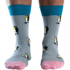 Doris & Dude Mens Penguins Bamboo Socks