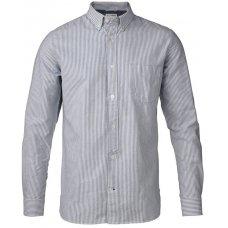 Knowledge Cotton Organic Button Down Striped Oxford Shirt - Skyway