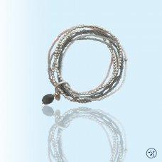 Mosami Nirmala 'I Am Blossoming' Grey Moonstone Silver Bracelet