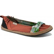 Komodo Bow Tie Ballet Pumps - Terracotta