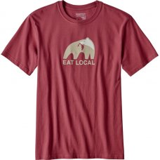 Patagonia Mens Eat Local Upstream T-Shirt - Red