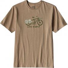 Patagonia Mens Live Simply Cargo Bike T-Shirt - Khaki