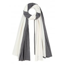 Asquith Bamboo Scarf - Pale Grey & Ivory