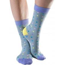 Doris & Dude Womens Grey Spot Bamboo Socks - Size 3-7