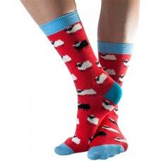 Doris & Dude Womens Red Sheep Bamboo Socks - Size 3-7